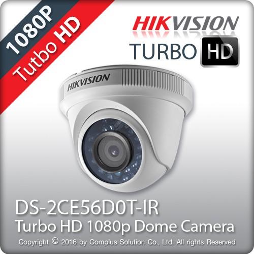 Camera HDTVI Dome 2.0MP Hikvision DS-2CE56D0T-IR