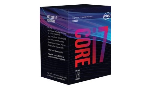 CPU Intel Core i7 8700 (Up to 4.60Ghz/ 12Mb cache)